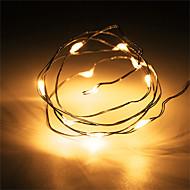 1 stücke hkv® 1 mt 10 led 2 x aa batterie kupferdraht fee string licht hochzeit dekoration led string lichter (keine batterien)