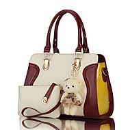 cheap Bags-Women's Bags PU Bag Set 2 Pieces Purse Set Zipper for Wedding / Formal Purple / Fuchsia / Wine