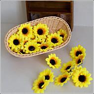 billige Kunstige blomster-10 Gren Polyester Solsikker Bordblomst Kunstige blomster