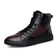 Bootsit-Tasapohja-Miehet-Nahka-Musta Ruskea-Ulkoilu Rento