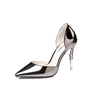 cheap Women's Heels-Women's Shoes Patent Leather Spring / Summer Club Shoes Heels Walking Shoes Stiletto Heel Dark Grey / Silver / Pink / Wedding / Dress