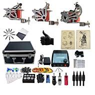 baratos kits profissionais do tatuagem-BaseKey Máquina de tatuagem Kit de tatuagem profissional - 3 pcs máquinas de tatuagem, Profissional Capa Inclusa 3xMáquina Tatuagem de aço para linhas e sombras