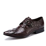 Masculino sapatos Couro Pele Primavera Outono Sapatos formais Sapatos De Casamento Para Casamento Festas & Noite Preto Café
