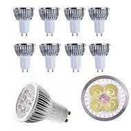10kpl 4w gu10 / e27 / e14 / gu5.3 led-valaisin lämmin / viileä valkoinen 350lm alumiininen spot-lamppu ac85-265v