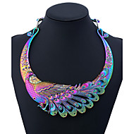 Women's Statement Necklace Peacock Ladies Colorful Rainbow 50 cm Necklace Jewelry One-piece Suit For Party Daily