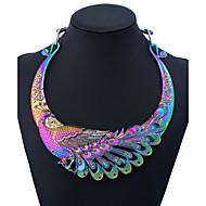 Γυναικεία Κολιέ Δήλωση Παγόνι κυρίες Πολύχρωμα Ουράνιο Τόξο 50 cm Κολιέ Κοσμήματα 1 Για Πάρτι Καθημερινά