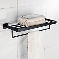 צדף לחדר האמבטיה מסורתי / וינטג' פלדת על חלד 22 56 1 מדף לחדר האמבטיה מורכב על הקיר