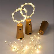 voordelige LED-verlichting-3 stks 15-led 0.75 m koperdraad lichtslingers met fles stop voor glas craft fles fairy valentines bruiloft decoratie lamp party