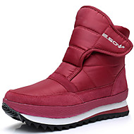 cheap Women's Boots-Unisex Shoes Canvas Silk Winter Fall Snow Boots Fluff Lining Boots Skiing Shoes Flat Heel Booties/Ankle Boots for Casual Outdoor Dark