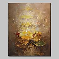 billiga Abstrakta målningar-Hang målad oljemålning HANDMÅLAD - Abstrakt Enkel / Moderna Inkludera innerram / Sträckt kanfas