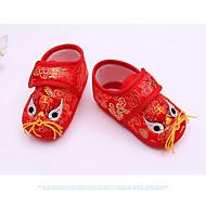 赤ちゃん 靴 シルク 春 秋 赤ちゃん用靴 フラット 用途 カジュアル イエロー ライトレッド レッド