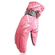 Luvas de Inverno Luvas Táteis Mulheres Dedo Total Manter Quente A Prova de Vento Vestível Esqui Durável Poliéster Estampado Andar na Neve