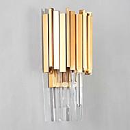 tanie Kinkiety Ścienne-Kryształ Prosty Modern / Contemporary Lampy ścienne Na Metal Światło ścienne 110-120V 220-240V 3W