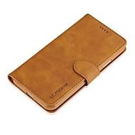Etui Käyttötarkoitus Samsung Galaxy S8 Plus S8 Lomapkko Korttikotelo Flip Kokonaan peittävä Yhtenäinen väri Kova Nahka varten S8 S8 Plus