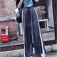 Damer Bukser Mikroelastisk Joggingbukser Joggingbukser Bukser Split Ensfarvet Stribet