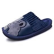 メンズ 靴 合成マイクロファイバーPU 冬 コンフォートシューズ フラフライニング スリッパ&フリップ・フロップ アニマルプリント 用途 カジュアル その他 ブルー ダークブラウン