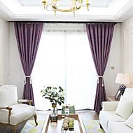 Propp Topp Dobbelt Plissert Blyant Plissert Window Treatment Moderne , Ensfarget Stue Lin Materiale Blackout Gardiner Hjem Dekor For Vindu