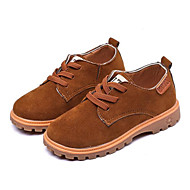 baratos Sapatos de Menino-Para Meninos Sapatos Pele Nobuck Primavera Conforto Oxfords para Preto / Cinzento / Marron