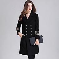 Kaput Normalne dužine Žene, Jednostavan Ležerne prilike Sofisticirano Ulični šik Dnevno Izlasci Jednobojni Color block Kragna košulje