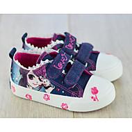 女の子 靴 キャンバス 春 秋 コンフォートシューズ スニーカー 用途 カジュアル ダークブルー ライトブルー
