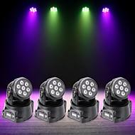 Χαμηλού Κόστους Φώτα σκηνής-U'King 4pcs Φώτα Σκηνής LED DMX 512 Master-Slave Ενεργοποίηση με  Ήχο Auto 70 για Κλαμπ Γάμος Σκηνή Πάρτι Για Υπαίθρια Χρήση