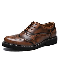 Herrer Sko Alle årstider Komfort Modestøvler Oxfords for Afslappet Sort Brun