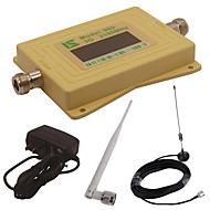 mini intelligent LCD-skjerm om 3G980 2100mhz mobiltelefon signal booster repeater med utendørs sucker antenne / innendørs pisk antenne gul