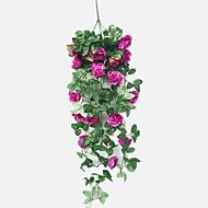 billige Kunstig Blomst-Kunstige blomster 1 Afdeling Europæisk Stil / pastorale stil Roser kurv med blomster