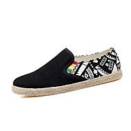 baratos Sapatos de Tamanho Pequeno-Homens Lona Primavera / Outono Conforto Mocassins e Slip-Ons Preto / Azul Escuro / Branco / Preto