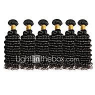 Brazilské vlasy Remy Velké vlny Lidské vlasy Vazby 6 kusů