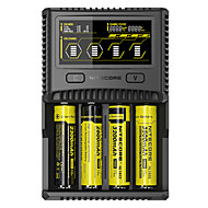 cheap Flashlights & Camping Lanterns-Nitecore SC4 Superb Charger Chargers USB Output Circuit Detection Reverse Polarity Protection Over Charging Protection Fast Charging LCD