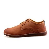 baratos Sapatos Masculinos-Homens Sapatos formais Pele Napa Todas as Estações Conforto Oxfords Preto / Cinzento Escuro / Castanho Claro