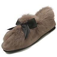 זול מוקסינים לנשים-נשים נעליים פרווה חורף נוחות פרווה בטנה נעליים ללא שרוכים שטוח בוהן עגולה ל קזו'אל שחור חאקי
