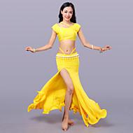 Trbušni ples Outfits Žene Trening Tejszövet Bez rukávů Sudačko Suknje Top