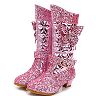 Tyttöjen kengät Synteettinen mikrokuitu PU Syksy Talvi Comfort Talvisaappaat Bootsit Käyttötarkoitus Kausaliteetti Sininen Pinkki
