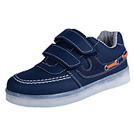 Para Meninos sapatos Courino Outono Inverno Conforto Tênis Para Casual Branco Preto Azul Rosa claro