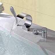 お買い得  浴槽用蛇口-浴槽用水栓 - コンテンポラリー モダンスタイル クロム 組み合わせ式 セラミックバルブ
