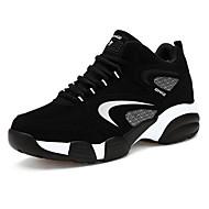 baratos Sapatos Masculinos-Homens Pele Nobuck Primavera / Outono Conforto Tênis Basquete Preto / Vermelho / Azul