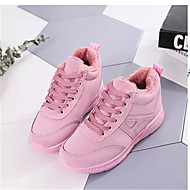 Women's Shoes Fabric Summer Athletic Shoes Walking Shoes Flat Heel Round Toe Split Joint for Black Green Pink
