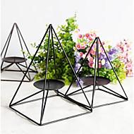 お買い得  キャンドル/キャンドルホルダー-シンプルな現代鉄の家の家の装飾ファッショナブルなブラックレストランキャンドルホルダー