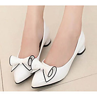 Damen Schuhe PU Frühling Herbst Komfort High Heels Für Normal Weiß Schwarz Rot