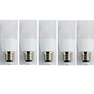 billige Globepærer med LED-5pcs 4W 300 lm E27 LED-globepærer C35 6 leds SMD 3528 Varm hvit AC 110-240V
