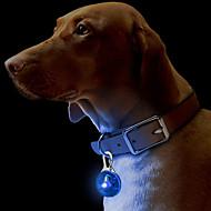 猫用品 犬用品 タグ 防水 LEDライト 安全用具 純色 レッド ホワイト グリーン ブルー ピンク イエロー オレンジ プラスチック
