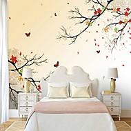 billige Tapet-Blomstret Trær / Blader 3D Hjem Dekor Moderne كلاسيكي Rustikk Tapetsering, Lerret Materiale selvklebende nødvendig Veggmaleri, Tapet