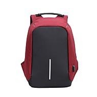 billige Computertasker-Unisex Tasker polyester Laptoptaske Lynlås for Sport Grå / Rød