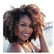 "halpa -Twist punokset 1pack Hiusletit Kihara Afro Saniya Curl 20"" Elastinen Tulokas Afrikkalaiset letit 100% kanekalon hiukset Black / Mansikka"