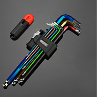 längerer Innensechskantschlüssel runder Kopf T-Typ 5mm / 3mm6 Winkelkombination Schraubendreher neunteiliges Werkzeug Besonderheiten * 1