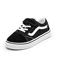 Недорогие -Мальчики обувь Натуральная кожа Полотно Осень Зима Удобная обувь Кеды Назначение Повседневные Черный