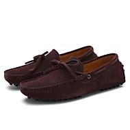 baratos Sapatos Masculinos-Homens Sapatos de Condução Couro Primavera / Verão Conforto Mocassins e Slip-Ons Nulo Nulo Café / Azul Real / Vinho