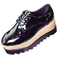Women's Shoes Rubber Winter Comfort Oxfords Round Toe For Outdoor Pink Coffee Black
